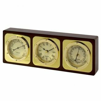 Time & Weather Set: Clock/Barometer/Thermometer - 28cm