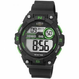 Limit Digital Countdown Watch - Black/Lime