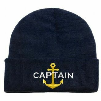 Nauticalia \'Captain & Anchor\' Knitted Beanie - Navy