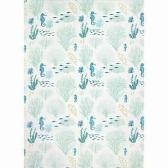 Nauticalia Coral Tea Towel, 71x51cm