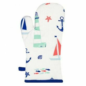 Nauticalia - Nautical Oven Glove, 33x17cm