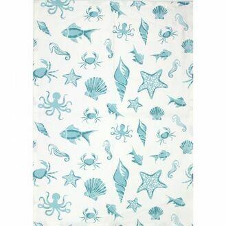 Nauticalia Sealife Marine Tea Towel, 71x51cm