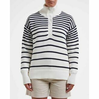 Holebrook Alison T-neck - Windproof - Off White/Navy