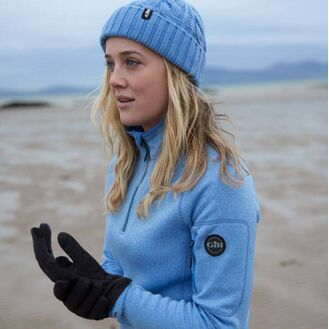 Gill Women's Knit Fleece - Light Blue/Navy