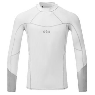 Gill Men's Long Sleeve Pro Rash Vest - Grey/Orange/White