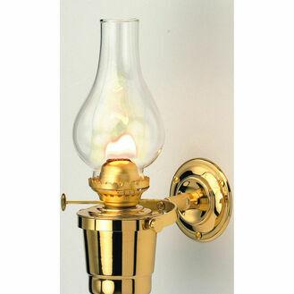Nauticalia Brass Gipsy Moth Gimballed Oil Lamp - 25cm