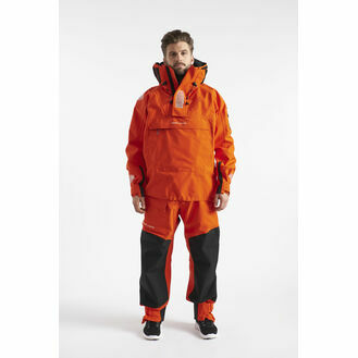 Henri Lloyd Men's O-Pro Hooded Smock - Power Orange/Carbon