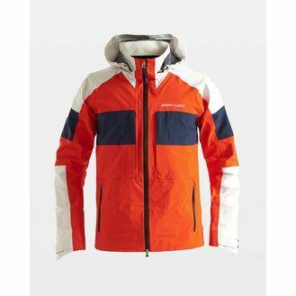 Henri Lloyd Men's M-Pro Hooded Jacket 3L GTX (Power Orange & Navy Blue)