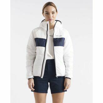 Henri Lloyd Women's Mav HV Liner Hooded Jacket (Cloud White, Navy Blue, Power Orange & Navy Block)