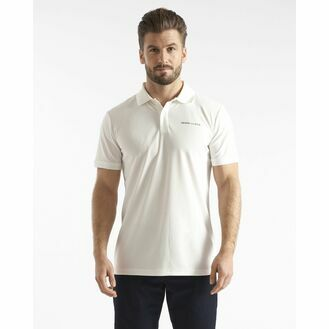 Henri Lloyd Men's Mav Tech Polo (Cloud White & Navy Blue)
