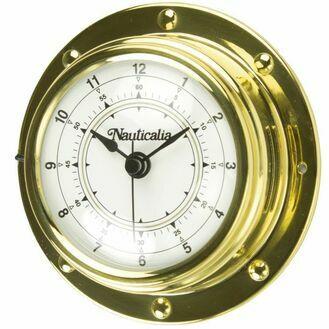 Nauticalia Brass Ship's Clock (Rivet-style) - 10cm