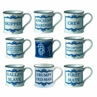 Nauticalia Sailing Sayings Bone China Mugs