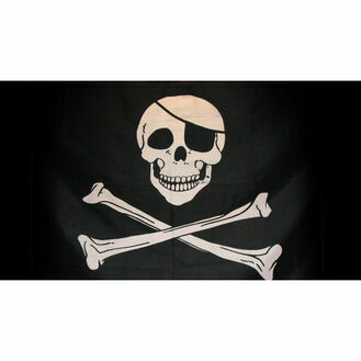 Nauticalia Pirate Jolly Roger Flag - 46 x 23cm