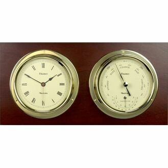Nauticalia Thames Brass Clock & Barometer Set