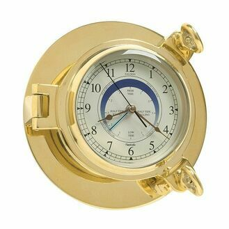 Nauticalia Saloon Brass Tide Clock