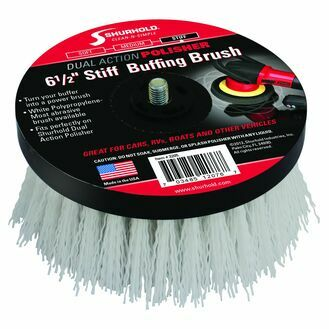 "Shurhold 6.5"" Stiff Polypropylene Buffing Brush - White"