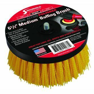 """Shurhold Medium Buffing Brush - 6.5"""" Yellow Polystyrene"""