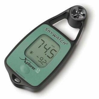 Skywatch Xplorer 2 Handheld Anemometer - Wind & Temperature Meter