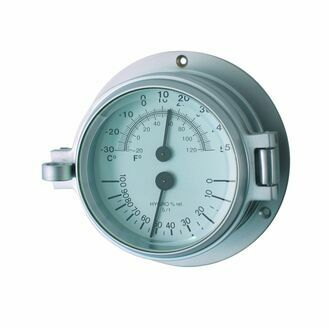 Meridian Zero Matt Chrome Channel Thermometer & Hygrometer