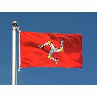 Meridian Zero Isle of Man Flag - 30 x 45cm
