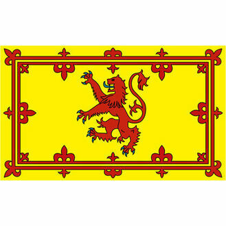 Meridian Zero Scottish Rampant Lion Flag - 30 x 45cm