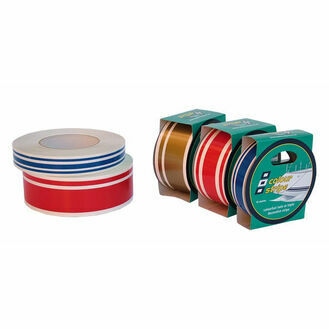 Colour Stripe Tape: 19mm x 10M