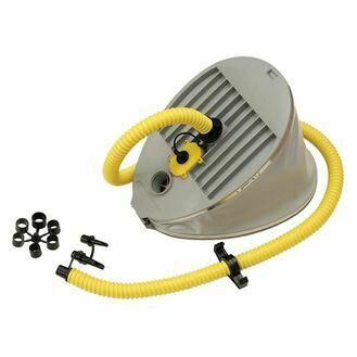 Bravo 9 Twin Chamber Foot Pump - 6.5/1.6 Litres