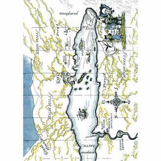 Nauticalia Swallows and Amazons The Map Tea Towel