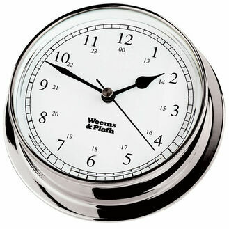 Weems & Plath Endurance 125 Quartz Clock (Chrome)