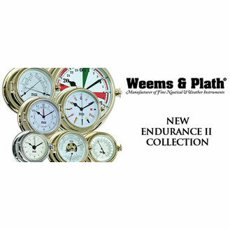 Weems & Plath Endurance II 105 Open Dial Barometer (Chrome and Brass)