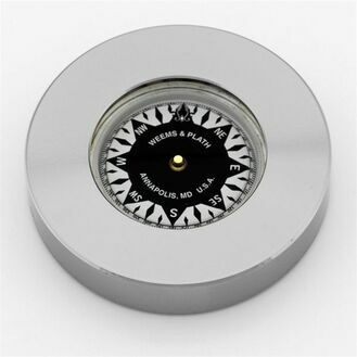 Weems & Plath Nickel Plated Chart Weight Compass