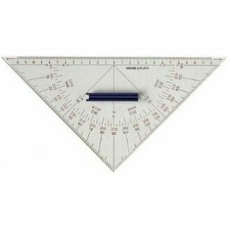 Weems & Plath Chart Plotting Protractor Triangle with Handle
