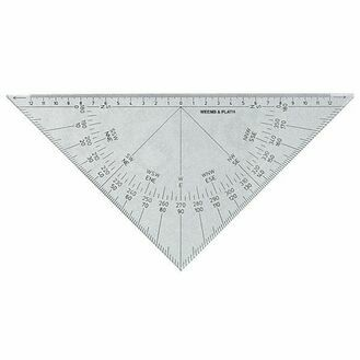 Weems & Plath Protractor Triangle Black - Markings for NavPak