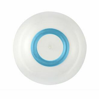Sorona Bowl -White w Vivid Blue Non Slip