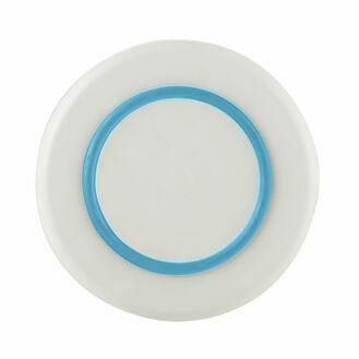 Sorona Plate -White w Vivid Blue Non Slip