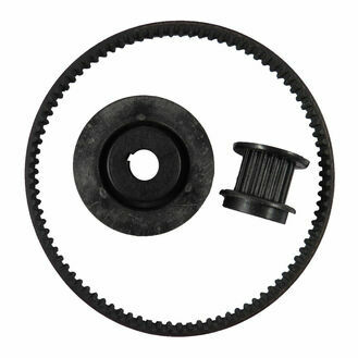 Jabsco 58541-1000 Pulley and Belt Kit, Contains Small and Large Pulley, Belt and Clip
