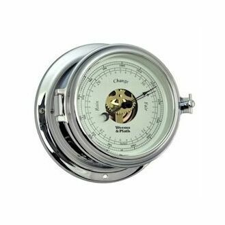 Weems & Plath Endurance II 115 Open Dial Barometer (Chrome and Brass)