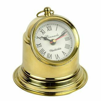 Nauticalia Brass Binnacle Nautical Desk Clock