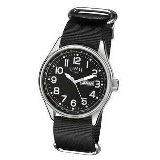 Limit Pilot Watch - Black/Black (Nylon Strap)