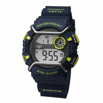 Limit Men\'s Wireguard Digital Watch - Navy/Green