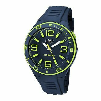 Limit Men\'s Sports Watch - Navy/Lime
