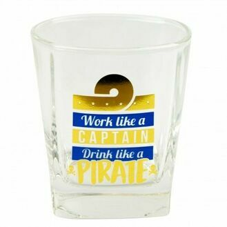 Nauticalia Glass Tumbler - ''Work like a Captain''