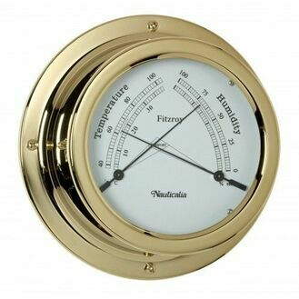 Nauticalia Fitzroy Thermometer/Hygrometer (QuickFix) Brass