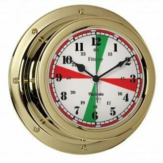 Nauticalia Fitzroy Radio Silence Clock (QuickFix) Brass
