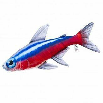Neon Tetra Fish Cushion, 53cm