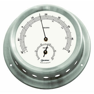 Talamex Series 125 Stainless Steel Thermometer & Hygrometer