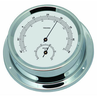 Talamex Series 125 Chrome Plated Brass Thermometer & Hygrometer