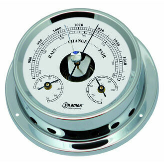 Talamex Series 125 Chrome Plated Brass Barometer, Thermometer & Hygrometer