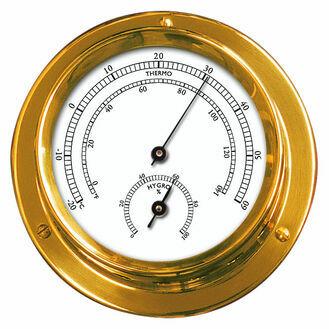 Talamex Series 100 Brass Thermometer & Hygrometer