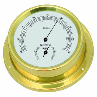 Talamex Series 125 Brass Thermometer & Hygrometer